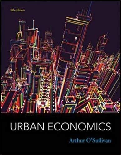 Influential books #87 Urban economics by Arthur O'Sullivan